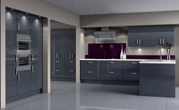 Dark Grey Modern Kitchen kitchens | artizan kitchens